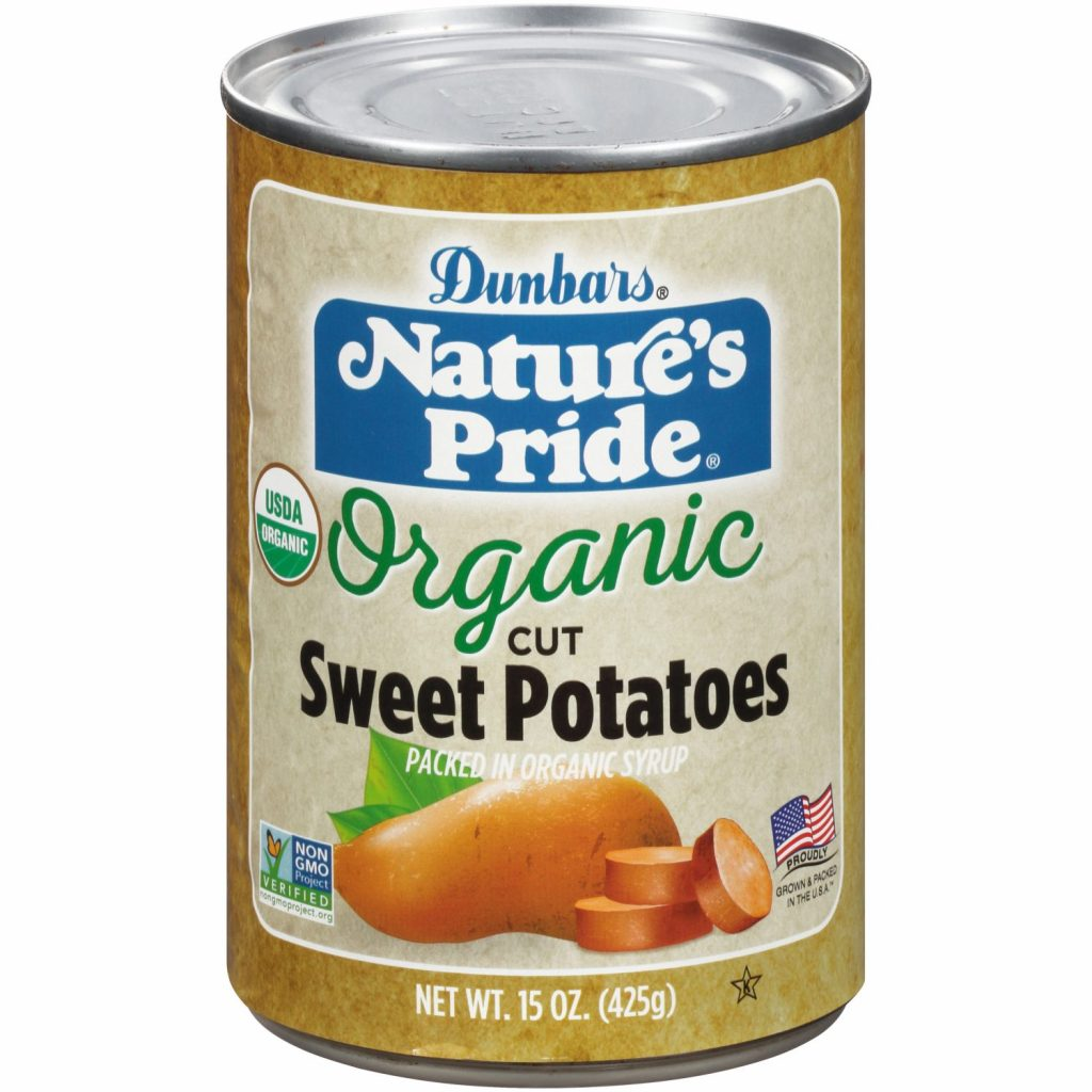 15oz. Nature's Pride Cut Sweet Potatoes Non-GMO