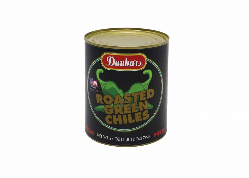 Dunbars Roasted Green Chilies 28oz