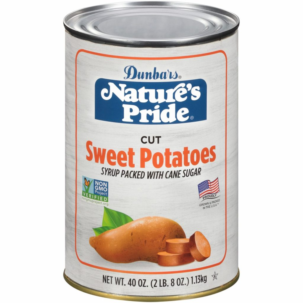 40oz. Nature's Pride Cut Sweet Potatoes Non-GMO