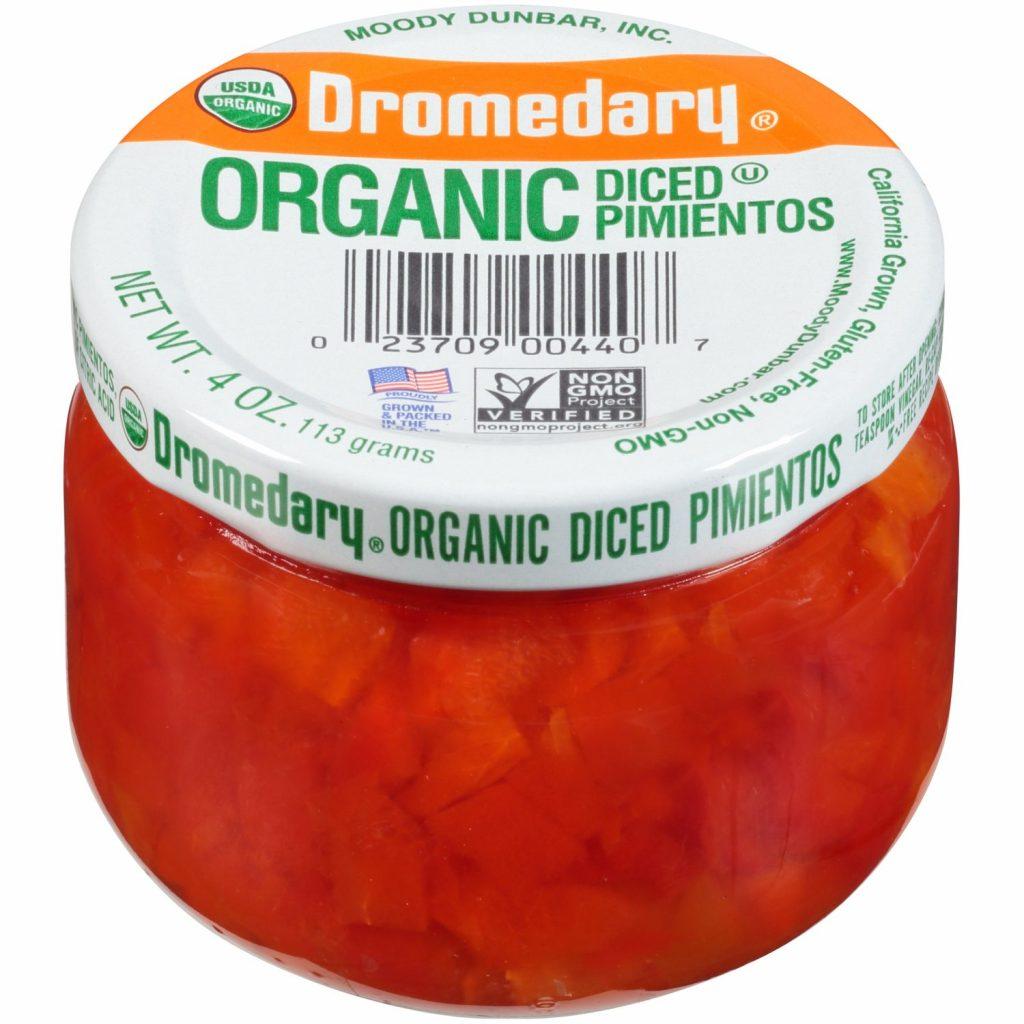4oz. Organic Dromedary Diced Pimientos