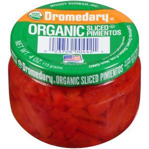 4oz. Organic Dromedary Sliced Pimientos