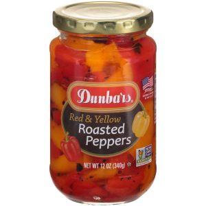 Dunbars Roasted Red and Yellow Peppers NON GMO 12 Oz