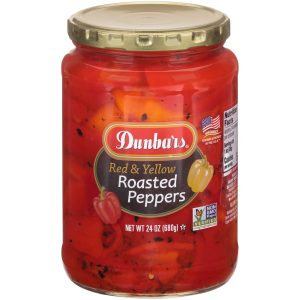 Dunbars Roasted Red and Yellow Peppers NON GMO 24 Oz
