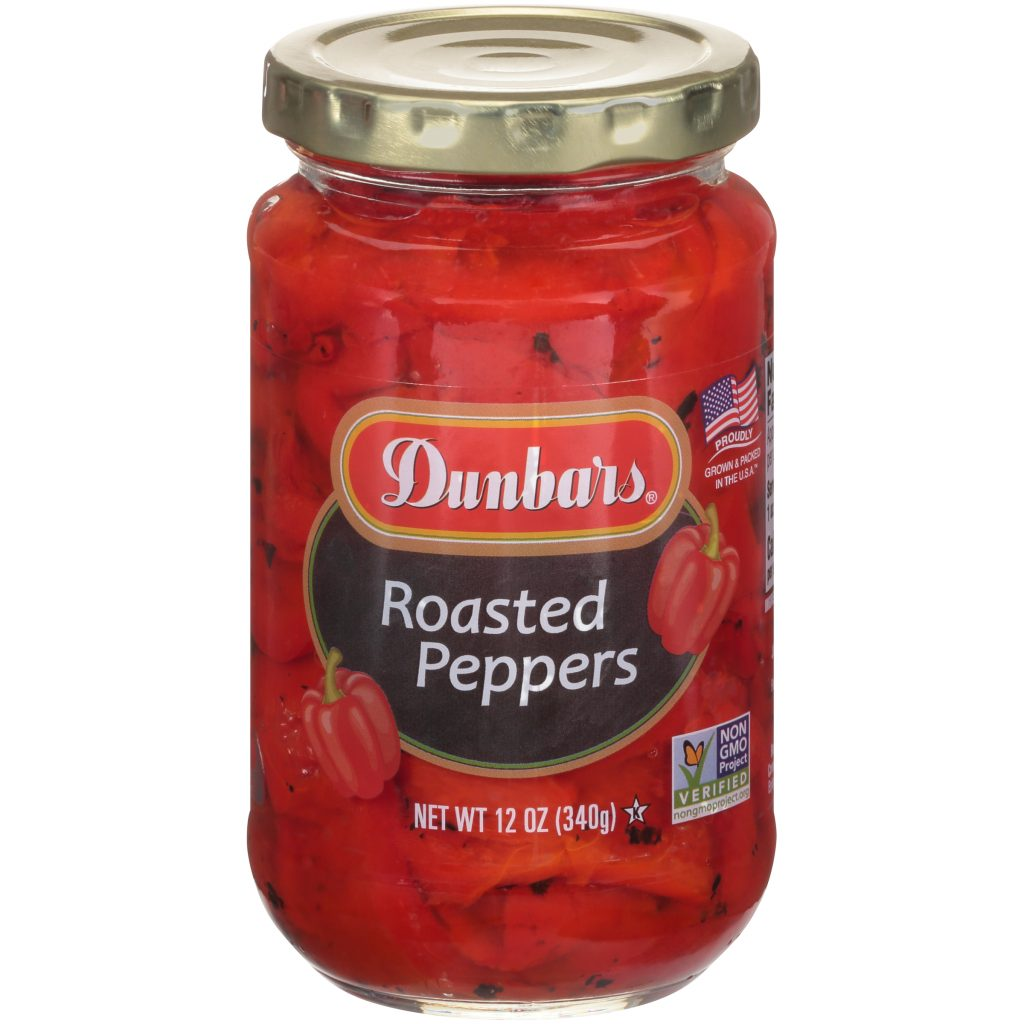 Dunbars Roasted Peppers NON GMO 12 Oz
