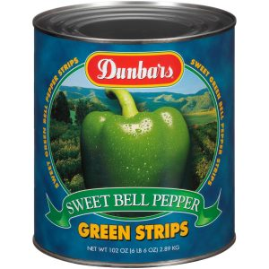 Dunbars Sweet Green Bell Pepper Strips 102 Oz