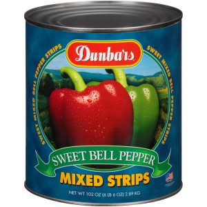 Dunbars Sweet Bell Peppers Mixed Strips 102 Oz
