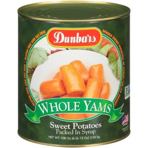 Dunbars Sweet Potatoes Whole Yams 108oz