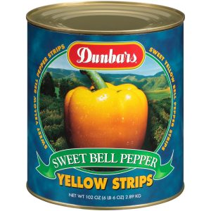 Dunbars Sweet Yellow Pepper Strips 102oz