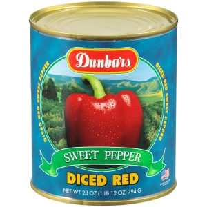 Dunbars Sweet Red Pepper Diced 28oz