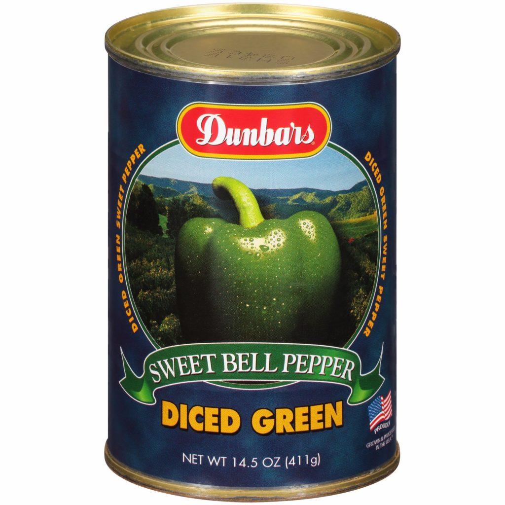 Dunbars Sweet Green Pepper Diced 14.5 Oz