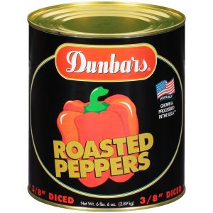 "Dunbars Roasted Peppers 3/8"" Diced"