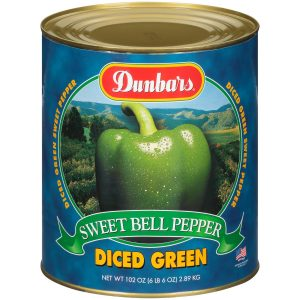 Dunbars Sweet Green Pepper Diced 102 Oz