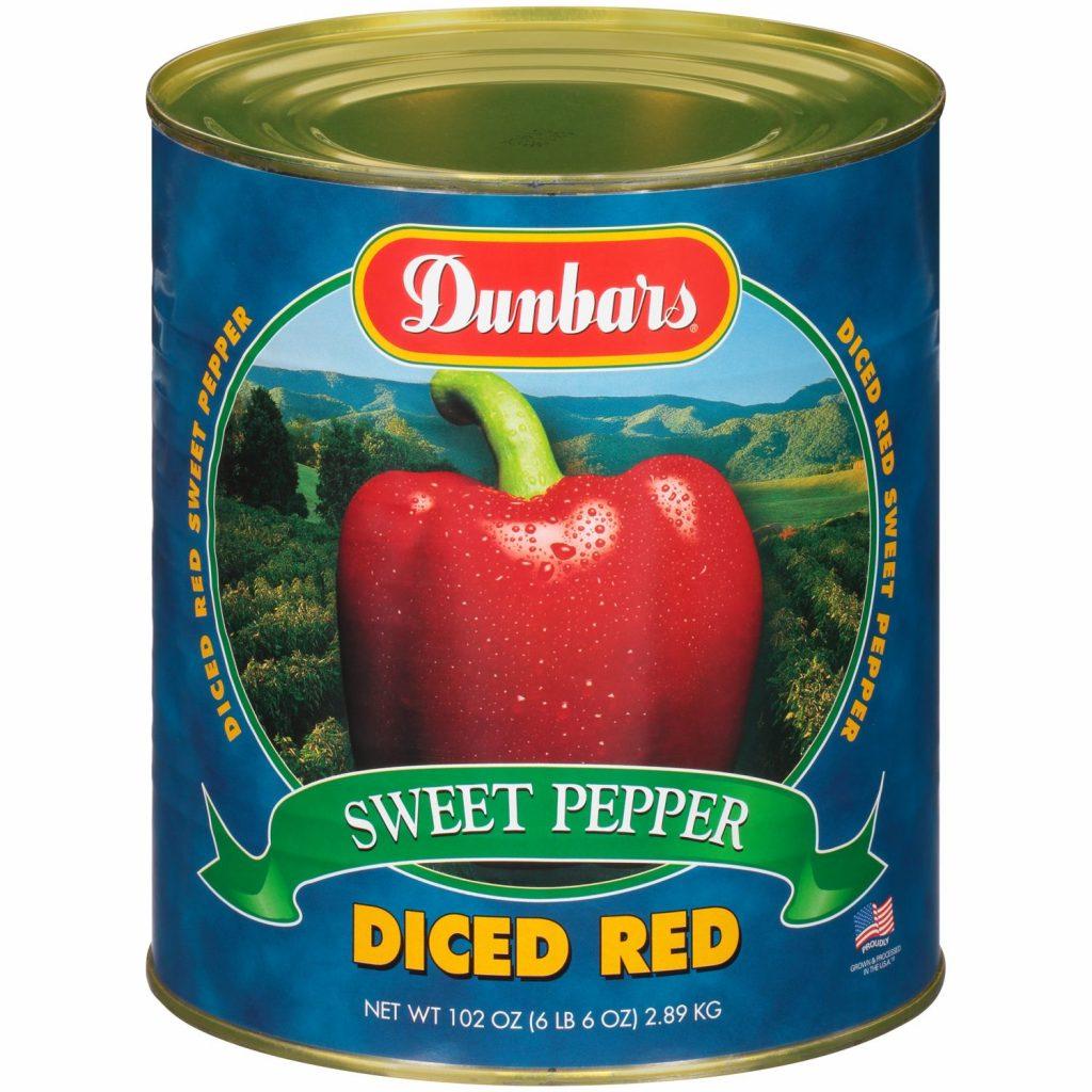 Dunbars Sweet Red Pepper Diced 102 Oz