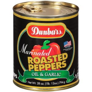 Dunbars Marinated Roasted Peppers Oil and Garlic 28 Oz