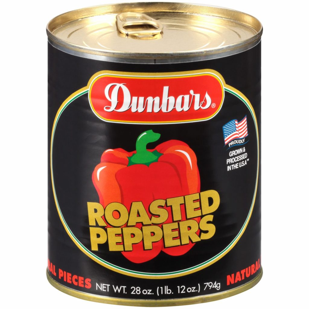 Dunbars Roasted Peppers Natural Pieces 28 Oz