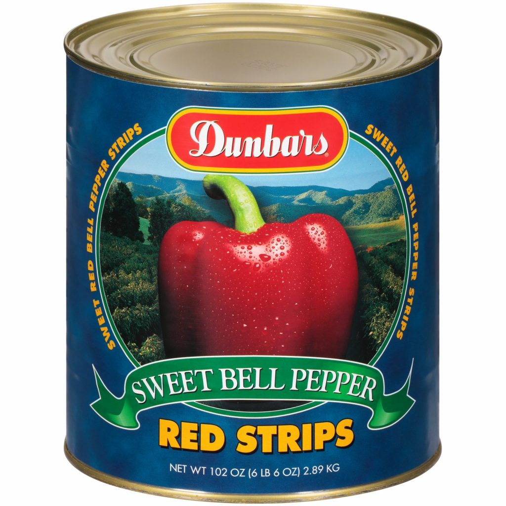 Dunbars Red Bell Pepper Strips 102 Oz