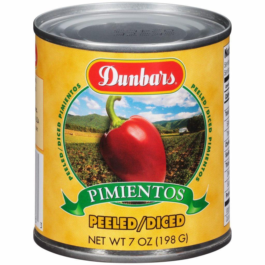 Dunbars Peeled Diced Pimientos 7 Oz
