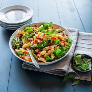 Pimiento-Arugula Pasta Salad