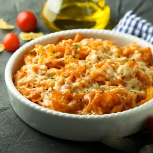 Three Cheese Chicken and Pimiento Pasta